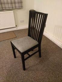 Solid Oak Black/Grey Dining Chair