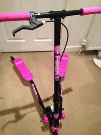 Great condition kids A3 air Flicker scooter in black/pink