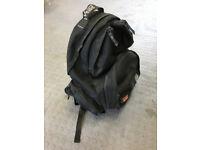 WEISE motorcycle rucksack incorporating helmet carrier