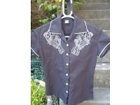 Ladies Toxico diner-style shirt for sale