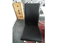 Real leather Italian black leather chair.