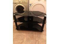 3 Tier TV , stereo etc smoked glass shelved unit