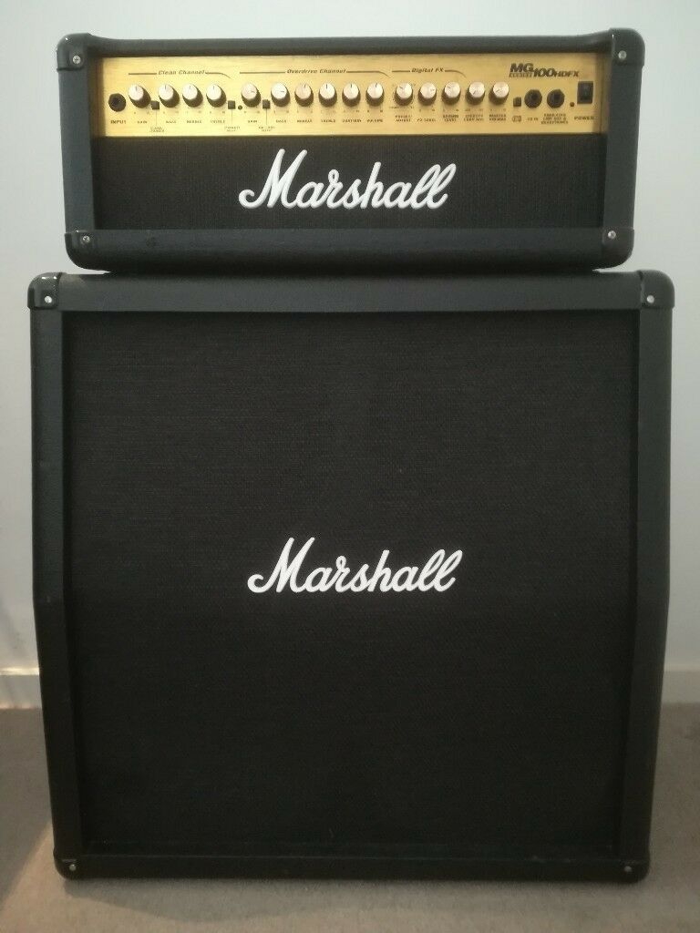 Marshall Mg100hdfx Guitar Amp 4x12 Inch 120w Marshall Cabinet In