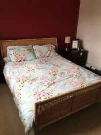 Super King sized bed frame with slats , ( ikea)