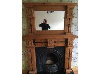Mexican pine fireplace
