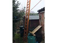 ladder wooden work ladder