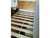 Double wooden bed frame in perfect conditions.