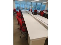 Office pod/bench/hot desk call centre desks/tables (2, 3, 4, 6, 8, 10-pods available)