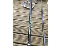 2 carp rods and 2match float rods