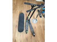 2 Havoc scooters & Skateboard