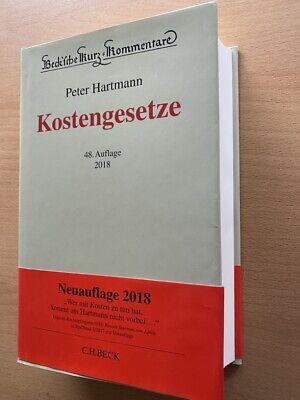 Hartmann KOSTENGESETZE KostG KOMMENTAR 48. Auflage RVG GNotKG GKG KV Praxis