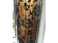 Black and brown patterned vase