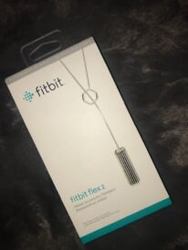 Fitbit Flex 2 metal accessory pendant - silver