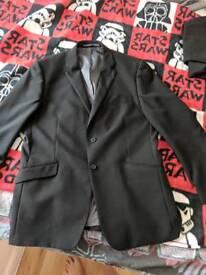 Men's black suit jacket 44L