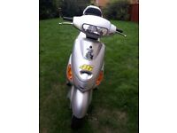 50cc scooter grey brand new never used good working order, mirrors & screen included.