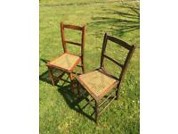 Wooden antique chairs