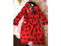 Marvel Spider-Man Red kids Children's Dressing Gown Age 7-8 Brand New With Tags Rrp £17