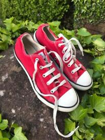 Red All Star Converse Shoe Size 2.5