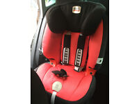Britax child car seat. Clean with instruction manual. 8mths to 4yrs approx.