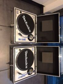 Technics SL1200 MKII With Flight Cases & Ortofon Pro S