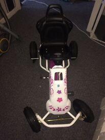 Girls pedal go kart