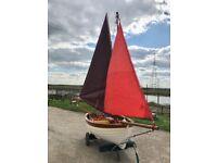 Sailing boat single lug sail or jib & lug rigged for sale
