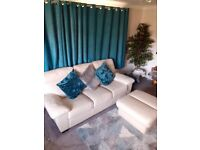 3 SEATER + 2 SEATER LEATHER SOFAS