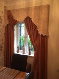 Beautiful Curtains with Box Pelmet