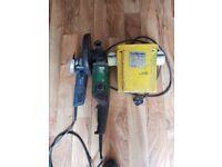"""9"""" grinder 4 1/2 """" grinder and a transformer"""