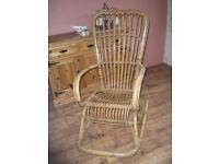 Large Bamboo Rocking chair.