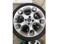 Ford Fiesta Zetec S alloys 17inch and tyres