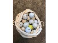 Sack of 50 golf balls