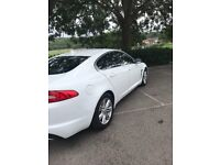 Beautiful white Jaguar XF , ideal wedding car