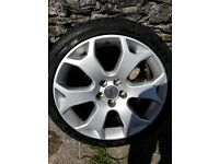 """Astra vxr 5x110 pcd 18"""" snowflake alloys with tyres mint condition"""