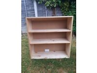 Pine Shelf Unit Or Cupboard In Excellent Condition