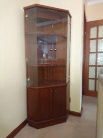 Mahogany Glass Fronted Corner Unit