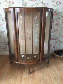 Vintage China cabinet with key