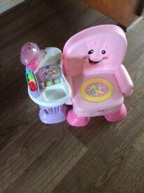 Children's Pink Fisher Price Chair