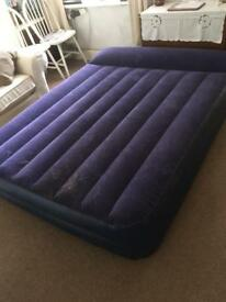 Large inflatable air bed.