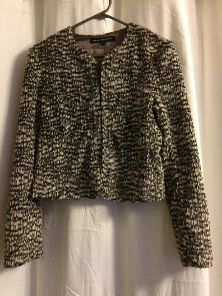 French connection Faux fur coat 6