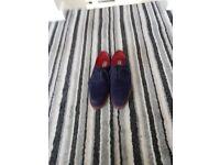 Mens blue suede shoes size 9