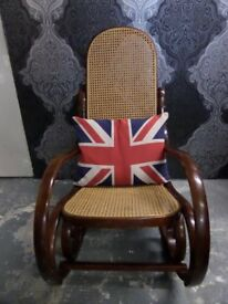 Beautiful Vintage Bentwood Rocking Chair Oak Finish - UK Delivery
