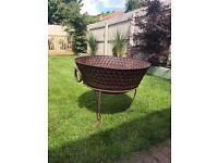 Large Fire Bowl Fire Pit BBQ Chiminea