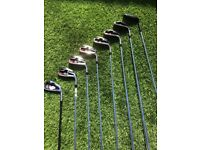 Set of Wilson irons 4-SW and 5hybrid. Only 3 months old. Very good condition