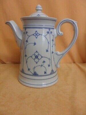 Antike Kaffeekanne Stohblume Indischblau 2,2 Liter Sammler Kalk Gelegenheit