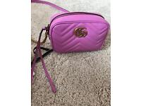 Gucci Marmont Pink Leather Bag (Genuine Gucci)