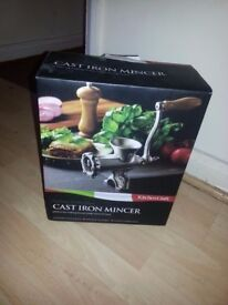 brand new meat grinder/mincer. unwanted xmas present.