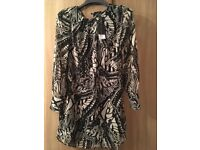Brand new, never worn ladies Dorothy Perkins black and white dress, size 10