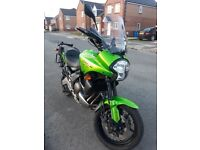 Kawasaki Versys 650, green, great condition, heated grips, mileage 33900