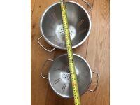 Set of 2 kitchen colanders drainers